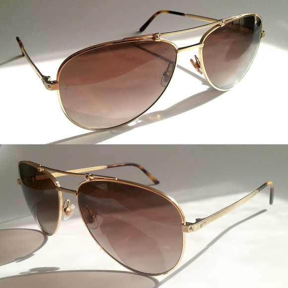 947b261553 Cartier Other - Auth Santos De Cartier Polarized Sunglasses 61MM